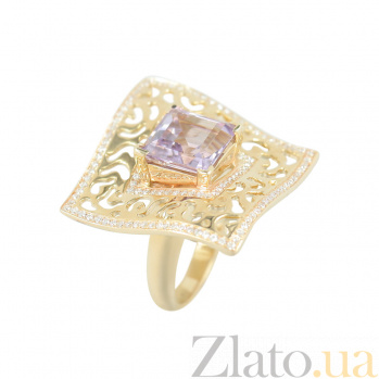 Золотое кольцо с аметистом и бриллиантами Принцесса Жасмин 000026514