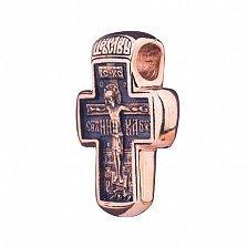 Золотой крест с чернением Победа над смертью
