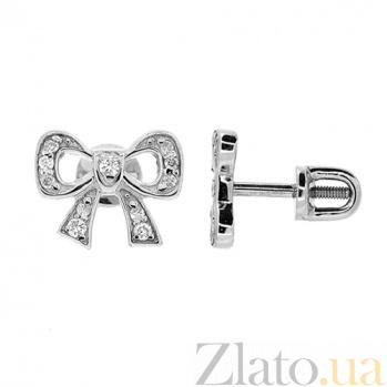 Серебряные серьги Мила с цирконием ZMX--ECz-00210-Ag_K