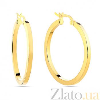 Золотые серьги Равенна SUF--103873ж