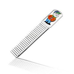 Серебряная расческа с цветной эмалью 000003905