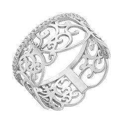 Золотое кольцо с кристаллами циркония Ампир