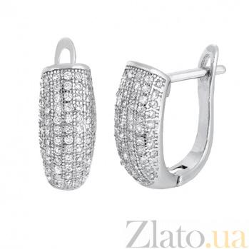 Серебряные серьги с цирконием Амабель SLX--СК2Ф/207