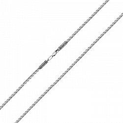 Серый тканевый шнурок Сирия с серебряным замком и чернением, 3мм