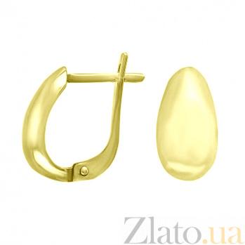 Серьги из желтого золота Оллин 000023281