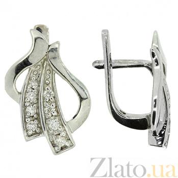 Серебряные серьги с бриллиантами Мирелла ZMX--ED-6457-Ag_K