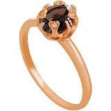 Золотое кольцо Моник с раухтопазом и фианитами