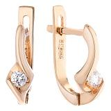 Золотые серьги Шейла с бриллиантами