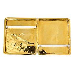 Серебряный портсигар с позолотой 000004798