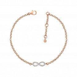 Золотой браслет в красном цвете с бриллиантами 000126889