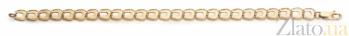 Золотой браслет Подковка фантазийного плетения 000030679