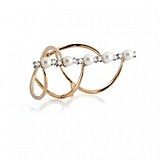 Золотое кольцо Персия с жемчугом и фианитами