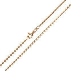 Золотая цепь Сантим классического якорного плетения, 1мм