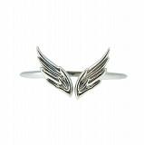 Золотое кольцо на фалангу пальца в белом цвете Крылья