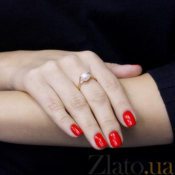 Кольцо в красном золоте Дора с жемчугом 000097435