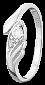 Серебряное кольцо с фианитом Лиза 000025817