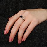 Серебряное кольцо Ранита с сапфиром и золотыми накладками