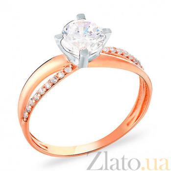 Кольцо из красного золота с фианитами Ода красоте SUF--153206