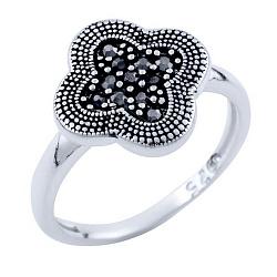 Кольцо из серебра Бонита с марказитом