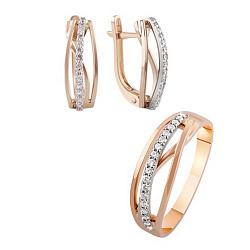 Золотой гарнитур с бриллиантами Пелагея 000017713