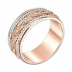 Золотое обручальное кольцо в комбинированном цвете 000005355