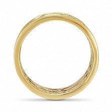 Золотое обручальное кольцо Объятия любви с белыми фианитами