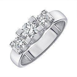 Кольцо из белого золота с бриллиантами 000145568