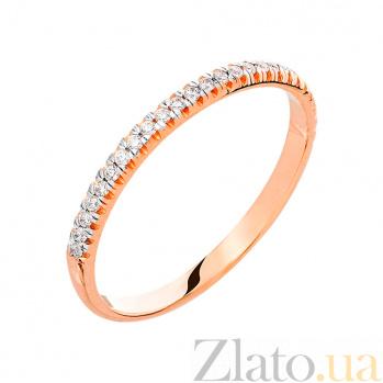 Кольцо из красного золота с фианитами Арден SUF--140631