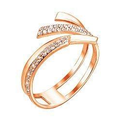Кольцо из красного золота Алира с фианитами
