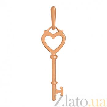 Кулон из красного золота Секреты любви VLN--314-1754