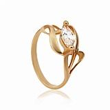 Золотое кольцо с фианитом Виола