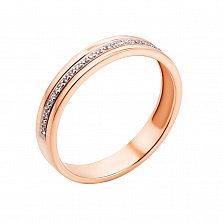 Кольцо из красного золота Мир любви с бриллиантами