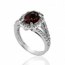 Серебряное кольцо с гранатом Нева
