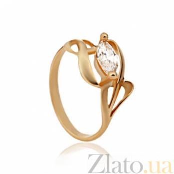 Золотое кольцо с фианитом Виола 000030604