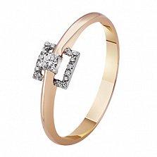 Помолвочное золотое кольцо с бриллиантами Беатриче