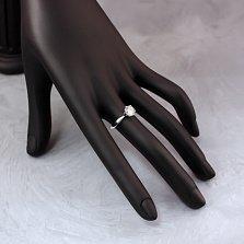 Золотое помолвочное кольцо Иванна в белом цвете с бриллиантом