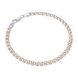 Серебряный браслет с позолотой и родированием 000056418