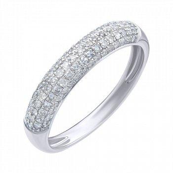 Кольцо из белого золота с бриллиантами 000139437