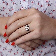 Серебряное кольцо Весенняя нежность