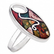 Серебряное кольцо Мозаика