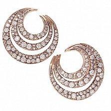 Серьги Serpenti из розового золота с бриллиантами