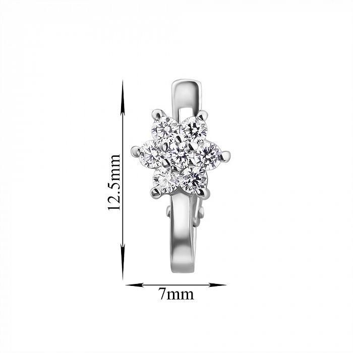 Серебряные серьги Астин с белыми фианитами 000033318