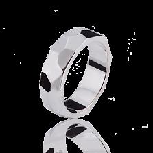Женское обручальное кольцо Океан в белом золоте