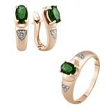 Золотое кольцо с изумрудом и бриллиантами История