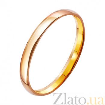 Золотое обручальное кольцо Апогей чувств TRF--411894