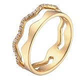 Кольцо в желтом золоте Мечта с фианитами