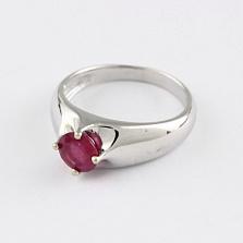 Кольцо из белого золота с рубином Власть