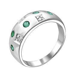 Серебряное кольцо Mosaic с агатами и фианитами 000100623