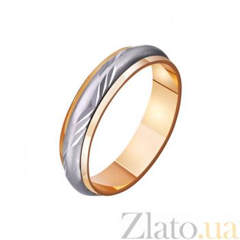 Золотое обручальное кольцо Бесконечная нежность TRF--421132
