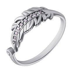 Серебряное кольцо с бриллиантами 000022212